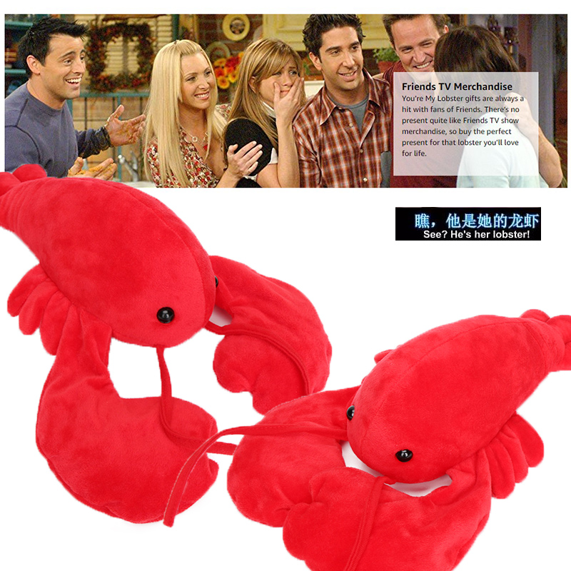 30cm Friends Lobster Plush Toys Friends You're My Lobster Stuffed Animal Dolls Ross Geller Rachel Christmas Gifts Valentines Day