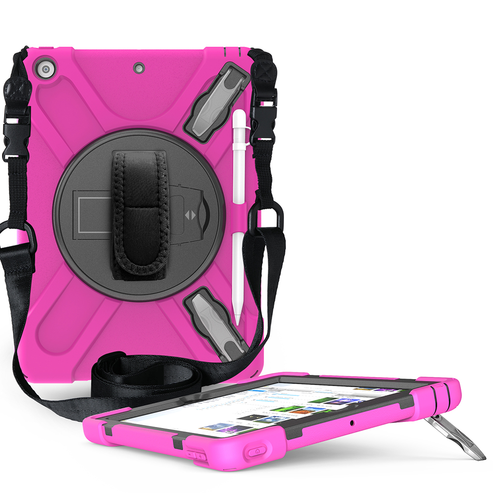 rosered Purple Case for iPad 10 2 Heavy Armor Kids Shokproof Cover A2197 A2198 A2200 A2270 A2428 A2429