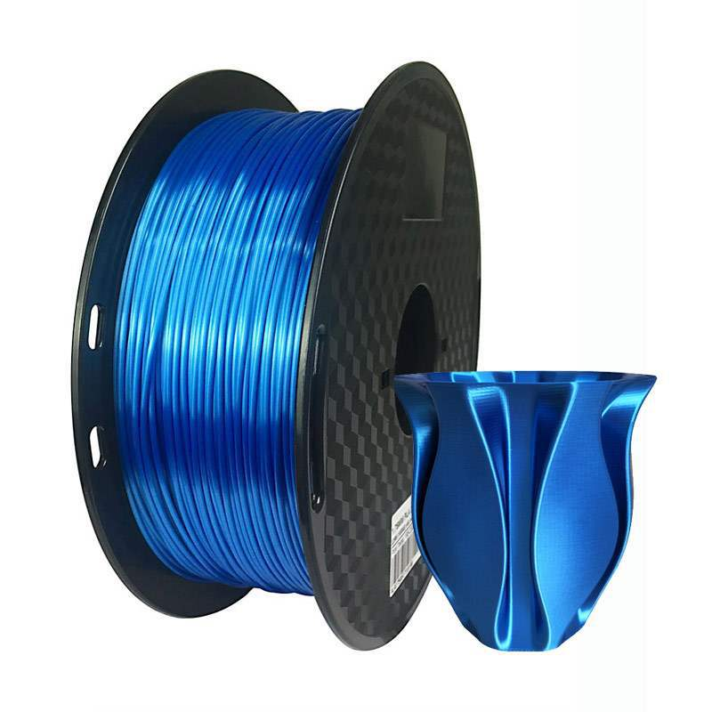 Filamento de impresora 3d PLA de seda Azul zafiro de 1,75mm, lustre sedoso de lujo de 500g/1kg, materiales consumibles para impresión de bolígrafo 3D brillante KIT de actualización PLA 2,0 Asistente de estacionamiento frontal 4K a 12K para VW Tiguan 5N 3AA 919 475 M/S
