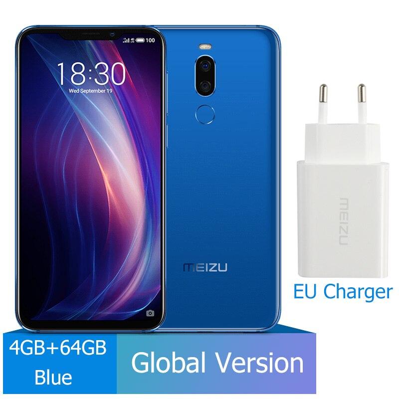 Meizu X8, 4 ГБ, 64 ГБ, глобальная версия, Смартфон Snapdragon 710, четыре ядра, мобильный телефон, фронтальная камера 20 МП, отпечаток пальца - Цвет: 4G 64G Blue