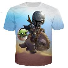 3D Print 2020 Newest Fashion Man Tshirt Lovely Child Baby Yoda Mandalorian Casual Fashion T-shirt O-neck Tee shirt Hip Pop Tops(China)