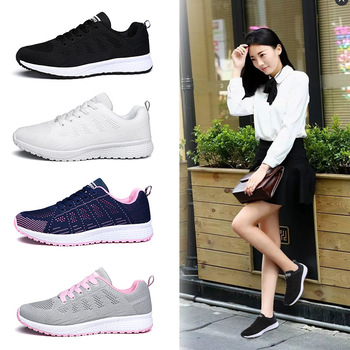 Women Fashionable Casual Vulcanize Sneaker Shoes   Breathable Tennis Air Platform Spring Running Sport Sneakers Large Size Shoes