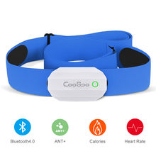 Coospo-Correa de pecho para ordenador de bicicleta, Correa deportiva inalámbrica con Sensor de ritmo cardíaco, para Polar Wahoo Garmin, BLE ANT +, color negro