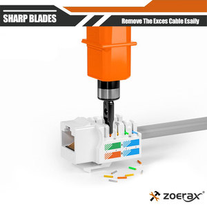 Image 3 - Punch Down Tool, Zoerax 110 Type Network Cable Tool Double Blades Ethernet Impact Terminal Insertion Tools