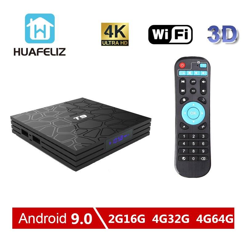 T9 Tv Box Android 9.0 4GB 32GB RKchip RK3318 RK3328 Quad core 1080P 4K Android tv box Smart Box 4GB64GB Set top Box PK X96TvBoX-in Set-top Boxes van Consumentenelektronica op  Groep 1