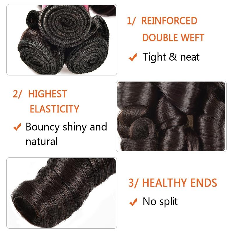 Nadula Hair Bouncy Funmi Curls Double Drawn Hair High Ratio 3 / 4 Bundles Curly  Wave 1PCS  Hair s 5