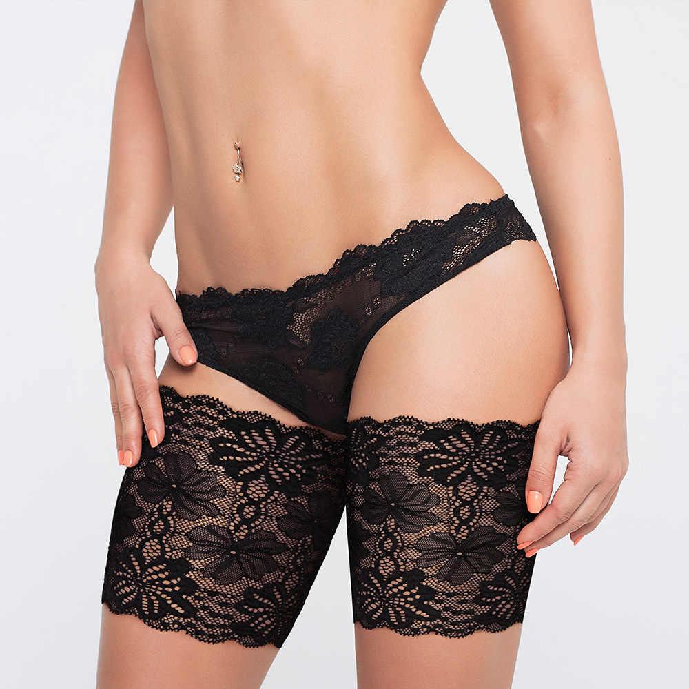 2 조각 여름 섹시 블랙 레이스 허벅지 밴드 마찰 방지 허벅지 다리 따뜻하게 실리콘 미끄럼 방지 안티 Chafing 여성 허벅지 밴드