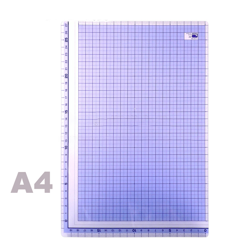 A4 Square Ruler Student Writing Transparent Large Pad Pp Material, Office School Writing Pad Stationery Supplies Handmade Pad