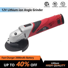 12V Cordless Electric Power Tool Lithium-ion Angle Grinder Grinding Machine Metal Polisher Metal and Wood cutting with battery(China)