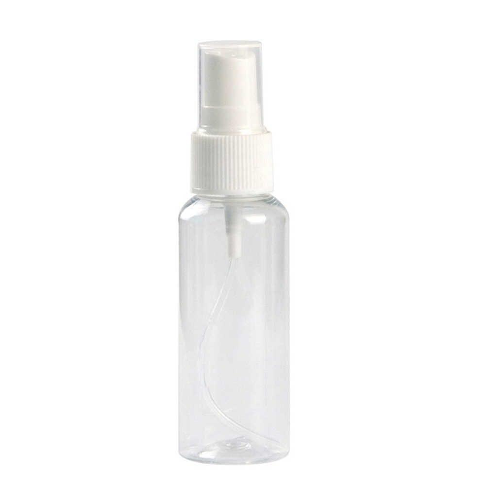 Mini Portable Perjalanan Plastik Transparan Kosmetik Kosong Sampel Botol Semprot Makeup Kelembaban Atomizer Botol Parfum