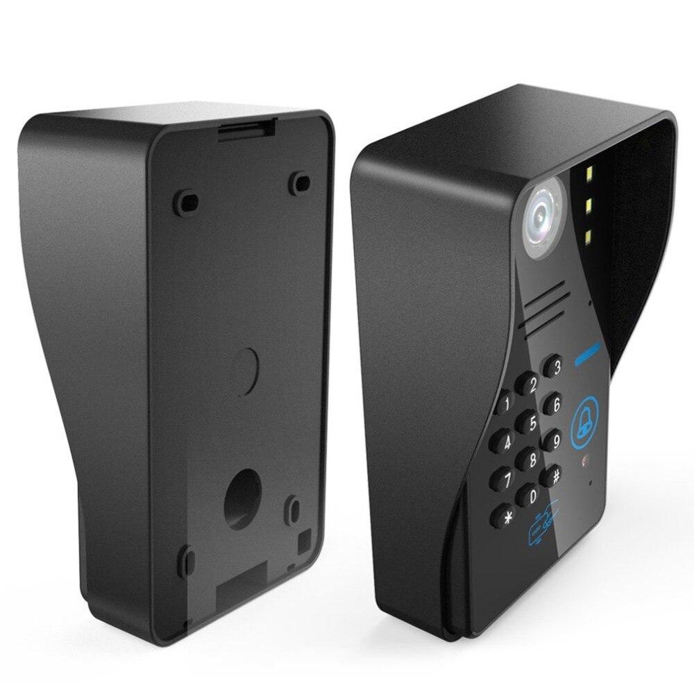 7 pouces filaire sonnette RFID mot de passe vidéo porte téléphone interphone sonnette avec caméra IR HD TV ligne système de télécommande - 5
