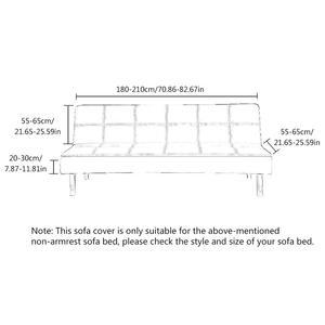 Image 5 - Новый высококачественный удобный толстый плюшевый чехол для дивана, чехол с полным покрытием, раскладной диван кровать без подлокотника, оптовая продажа