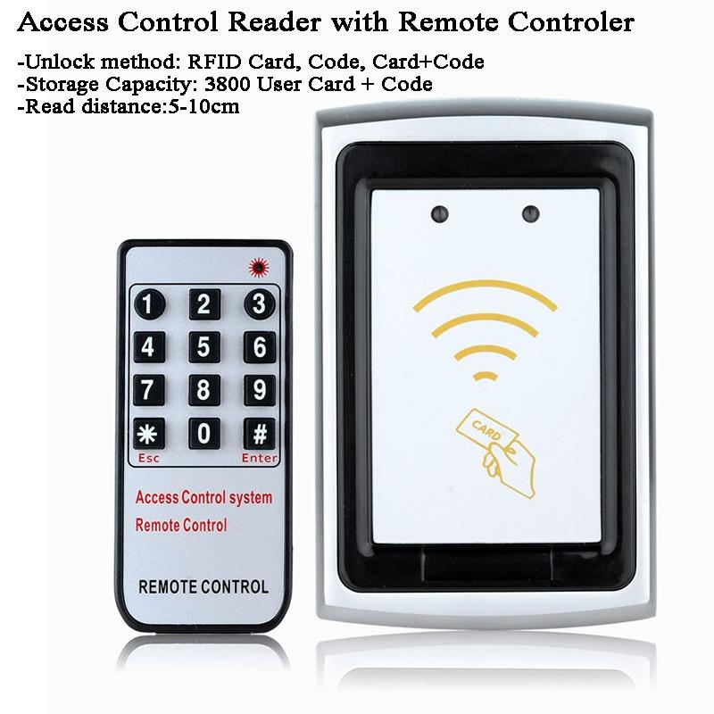 12V Outdoor Metal Gate Opener RFID Card Reader Door Lock Data Copy Remote Control/Code/Password Door Switch Laboratory/Factory