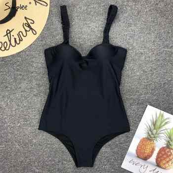 Simplee Sexy v-neck push up women bodysuit Strap solid white bodysuit female romper jumpsuit One-piece summer beach playsuit