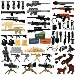 Кирпичи, военное оружие упаковка Пистолеты городская полиция SWAT команда солдат аксессуар Базовая коробка фигурка игрушки LegoINGly WW2 армии стр...