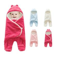 Baby Separated Legs Blanket Wrap Swaddle Sleeping Bag Thickened Winter Warm Bedding Baby Sleeping Bag hot knitted fleece sleeping bag padded warm baby sleeping bag baby s blanket
