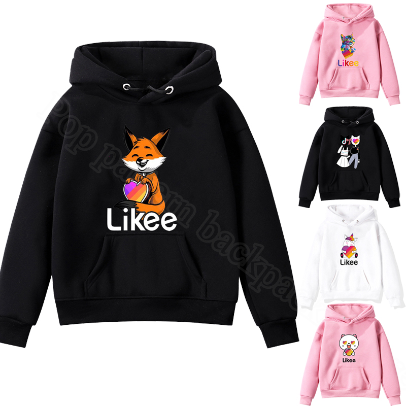 2020 NEW Kids Pullover Likee Video App Sweatshirt Children's Clothing Baby Boys Girls Hoodie Casual Tops Animal Fox Cat Unicorn