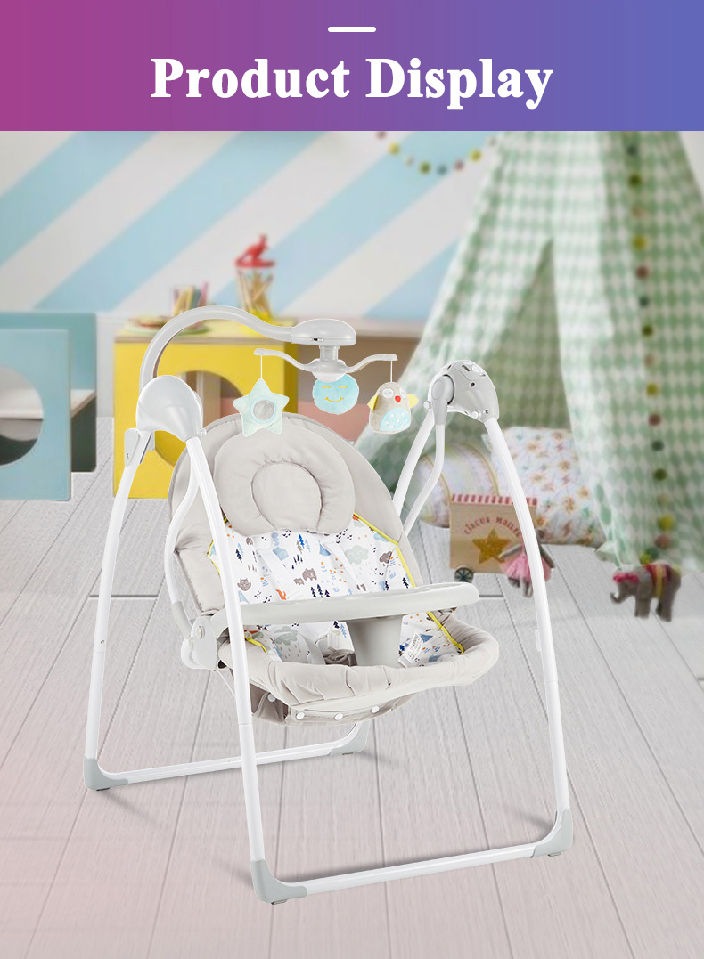 Hff1713d0b79a482c91b4366806e4c9cem Babyinner Baby Rocking Chair Baby Bassinet Newborn Electric Cradle Foldable Baby Chair Multifunctional Swing Baby Sleeping Bed