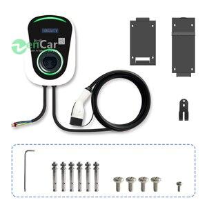 Image 3 - DUOSIDA elektrikli araç şarj istasyonu 32A 7kW Wallbox elektrikli araç şarj cihazı tip 2 kablo IEC 62196 2 için Mercedes