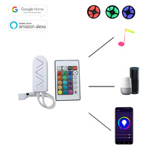 WiFi music controller DC 5-12V RGB controller sync music with IR 24 keys remote control APP control for RGB led light strips