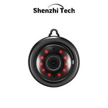 Caméra IP, Mini caméra WiFi avec Vision nocturne infrarouge traqueur de mouvement Audio 2 voies CCTV P2P sécurité à domicile (Type à crochet)
