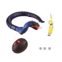 Novelty Remote Control Snake Naja Cobra Animal Trick Terrifying Mischief Toy RC Snake Safari Garden Props Prank Gift For Kids