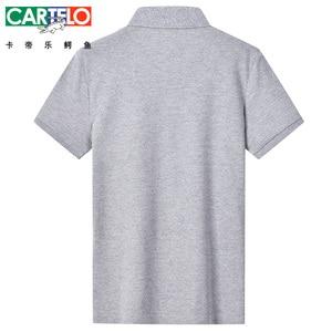 Image 2 - DZYS 2018 Men s V neck Polo Shirt Fashion Shirt for Men Male 3021