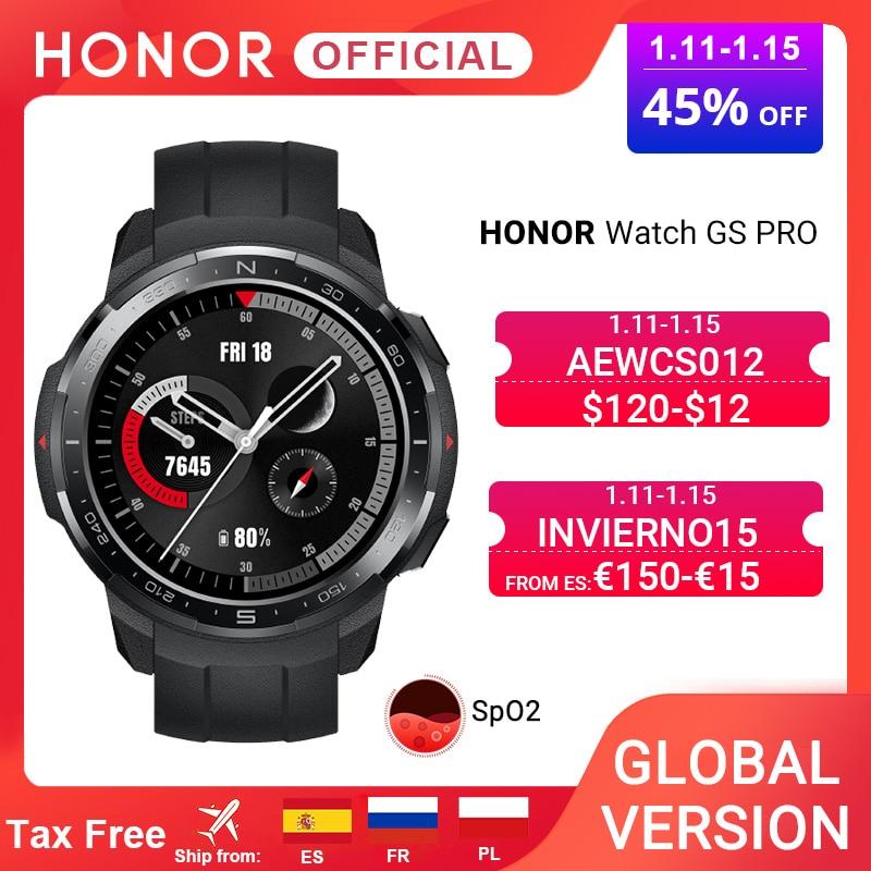 Глобальная версия Honor Watch GS Pro Смарт-часы SpO2 мониторинг сердечного ритма спортивные Смарт-часы Bluetooth Вызов 5ATM 25 дней батарея $120-$12 CODE:AEWCS012