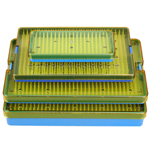 Surgical Autoclavable box Surgery tool Autoclave ophthalmic micro plastic HTHP Silicone pad Disinfection box instrument dental sterilization autoclave cassette tray box rack rubber linker instrument clinic disinfection holder for 5 10pcs surgical