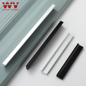 WV American Silver Black Cabinet Knobs and Handle Aluminum Alloy Drawer Pulls Furniture Handle Cupboard Wardrobe Cabinet Handle