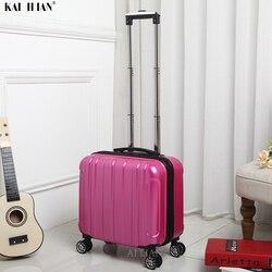 طفل السفر الأمتعة 18 ''المقصورة حقيبة مع عجلات حقيبة العربة تحمل على المتداول الأمتعة bagage تروللي حقيبة للسفر البلا