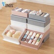 BNBS Closet Underwear Organizer Storage Bra Clothes Boxes Plastic Dividers For D