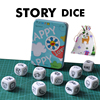 9PCS Dice Creative Dice Cube 6-Sided Fun Table Games Toys Tell Story By Children and Adults Polyhedral Dice Entertainment Gifts