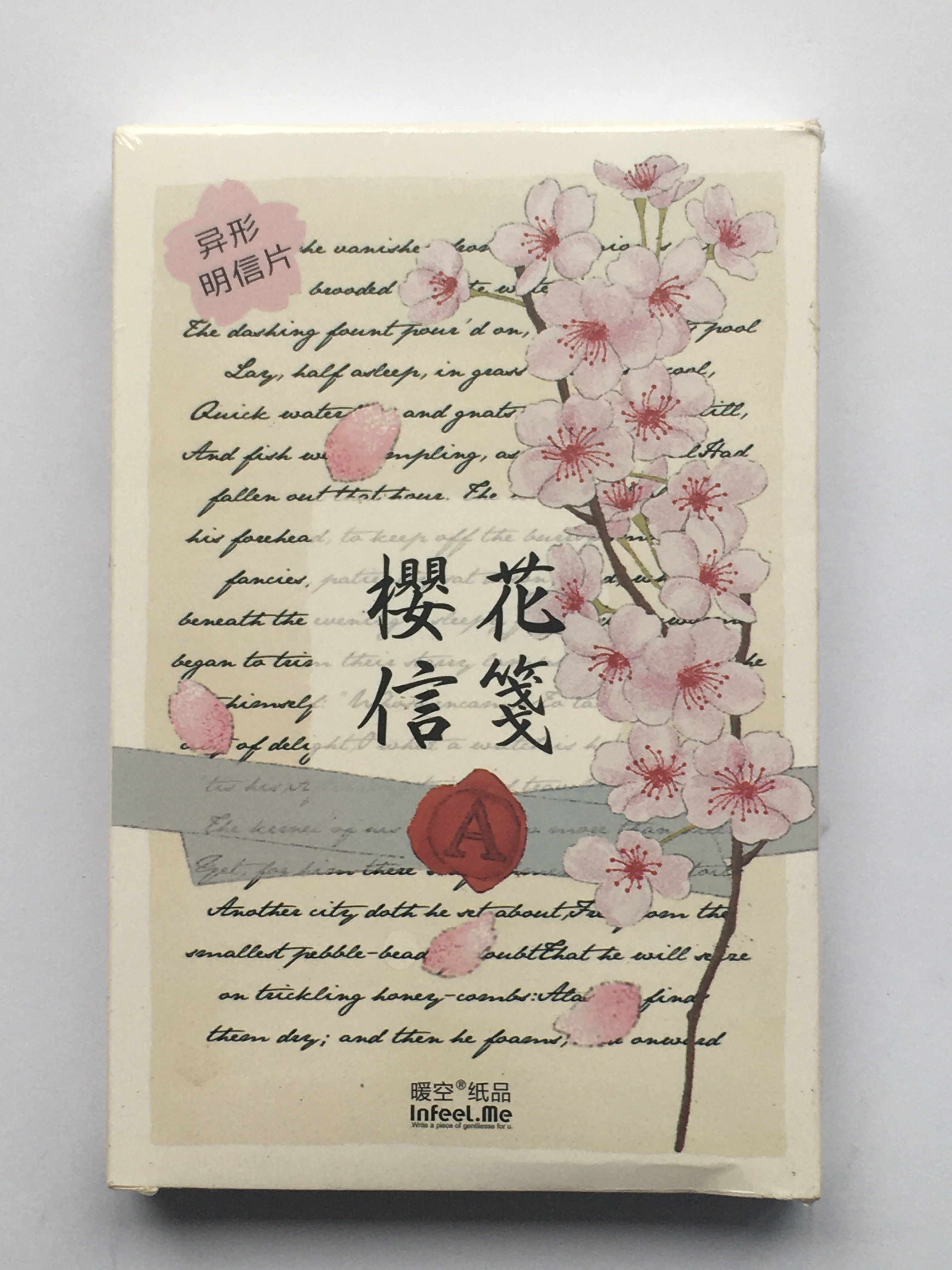 A21- Flower Writing Paper Postcard(1pack=30pieces)