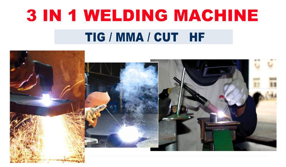 Купить с кэшбэком TIG CUT ARC Welding machine CT418 3 in 1 welder with pilot arc CNC 220V/110V