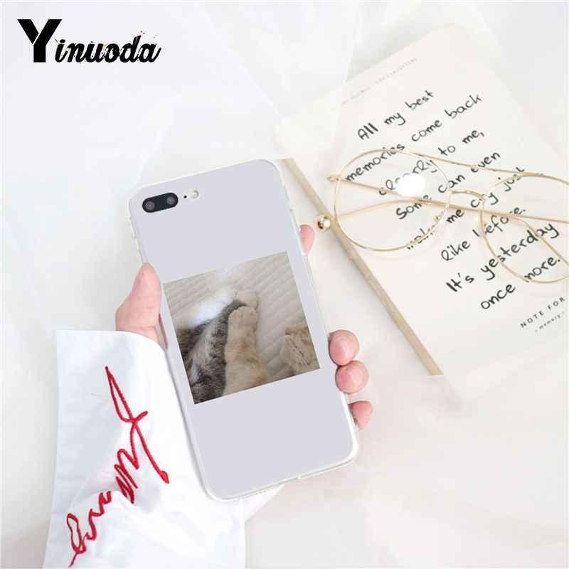 Yinuoda funda de teléfono de alta calidad de perro gato divertido para iPhone 8 7 6 6S X XS MAX 5 5S SE XR 10 11 Pro Max