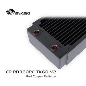 Image 5 - Bykski מים קירור נחושת צלעות קירור מקרה קר שורה רדיאטור 60mm עובי עבור 120*120mm אוהדים B RD120/ 240/360 TK60
