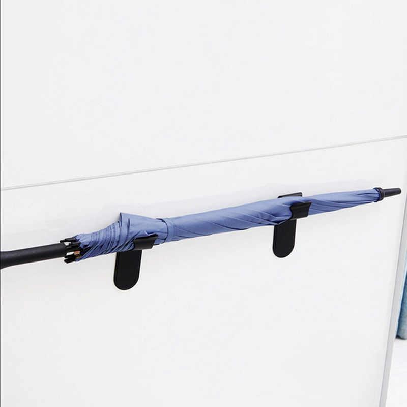Auto fita Adesiva DIY Pendurado Guarda-chuva Universal Clipe Gancho Rack de Montagem Na Parede Organizador De Armazenamento Titular Guarda-chuva Guarda-chuva Carro Fivela