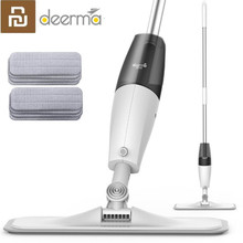 Hot Youpin Deerma Water Spray Mop With Cloth Carbon fiber dust cloth 360 degree rotating 1.2m easier for xiaomi mijia cleanin
