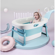 Детская складная ванна, индивидуальная ванна, пластиковая Нескользящая складная детская ванна, большая ванна, Bebe Ванна