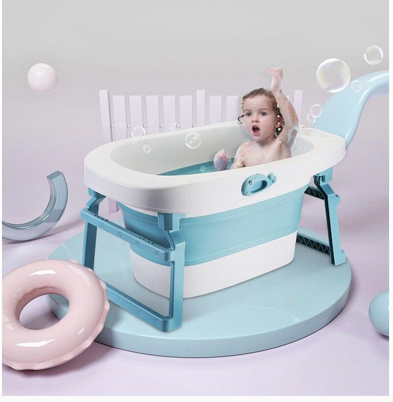 Baby Folding Bath Bathtub  Personality Bathtub Plastic Non-slip Collapsible Toddler Bath Tub Large Bathtub Bebe Bathtub