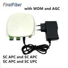 SC APC Optical Receiver SC/APC SC/UPC พร้อม WDM และ AGC MINI Node ในร่ม Optical Receiver สีขาวพลาสติกกรณี