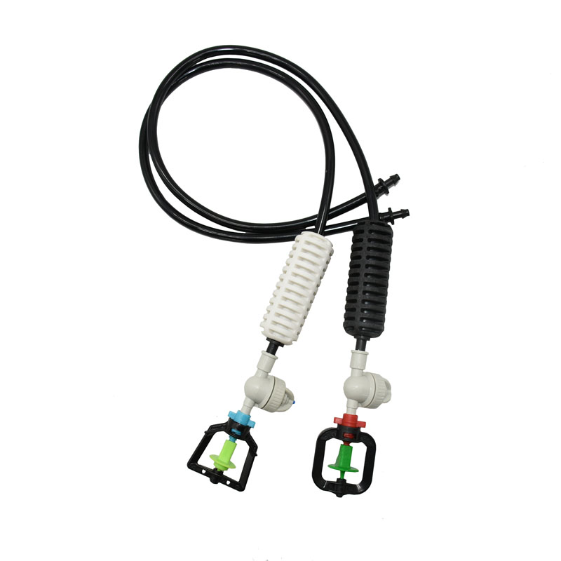 Greenhouse Hanging rotating water sprinkler Nozzle lawn garden sprinklers irrigation Kits For plant watering 1set