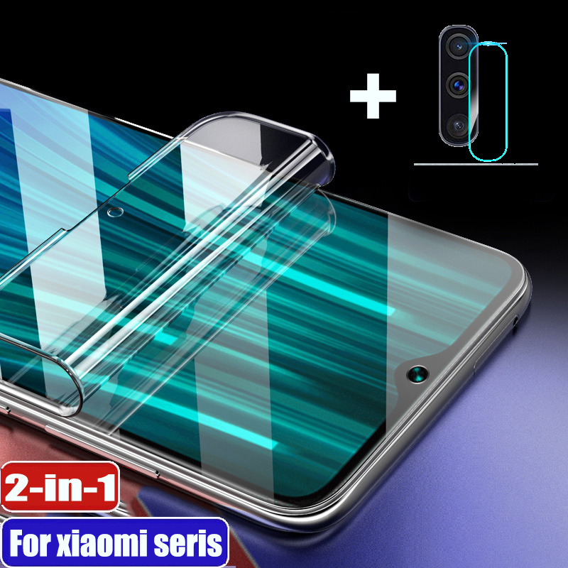 <font><b>Hydrogel</b></font> Film Not Glass 2-in-1 For Xiaomi <font><b>Redmi</b></font> note 9 pro note <font><b>8</b></font> note 7 pro 8t 7a 8a Y3 note 5 go K20 pro K30 Screen Protector image