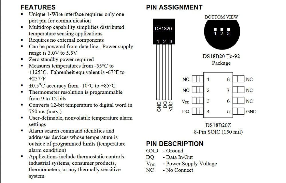TZT DS1820 посылка из нержавеющей стали, водонепроницаемый датчик температуры DS18b20, датчик температуры 18B20 для Arduino