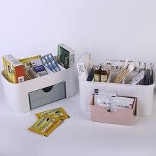 1 pcs kawaii office desktop organizer drawers cosmetics storage