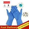 Горячие 20/100 шт гибкие прочные одноразовые латексные перчатки для очистки пищевых перчаток Универсальные резиновые защитные перчатки для д...