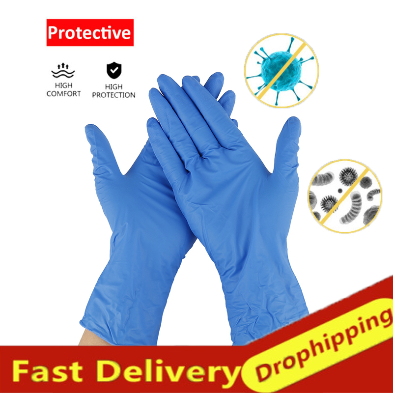 20/100Pcs Flexible Durable Cleaning Disposable Latex Gloves Universal Rubber Nitrile Gloves Home Garden Clean Car Wash Guantes