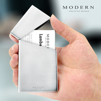 Modern Brand Stainless Steel Card Holder Minimalism Card Organizer Business and Credit Card Case
