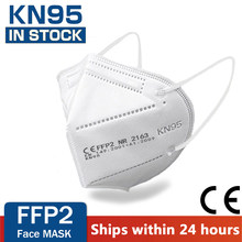 Masque Facial KN95 FFP2, 5 couches, protection de la santé, respirant, 95%